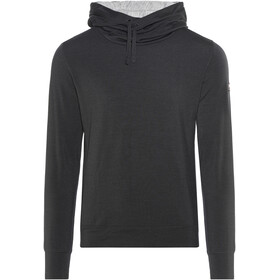 super.natural Comfort Hoody Men Jet Black/Ash Melange